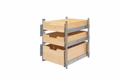 "Rev-A-Shelf - 4PIL-18SC-SV-3 - 15"" Wood Pilaster System Kit"