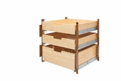 "Rev-A-Shelf - 4PIL-24SC-3 - 21"" Wood Pilaster System Kit"