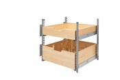 "Rev-A-Shelf - 4PIL-24SC-SV-2 - 21"" Wood Pilaster System Kit"
