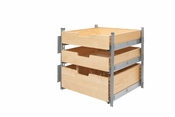 "Rev-A-Shelf - 4PIL-24SC-SV-3 - 21"" Wood Pilaster System Kit"