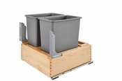 Rev-A-Shelf - 4WC-24DM2-SC - Double 30 Quart Pullout Waste Container