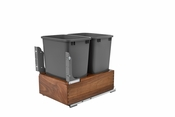 Rev-A-Shelf - 4WC-WN-2150DM2-SC - Double 50Qt  Waste Container
