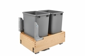 Rev-A-Shelf - 4WCBM-18DM-2 - Double 35 Quart Pullout Waste Container