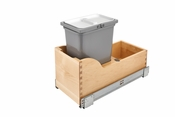 Rev-A-Shelf - 4WCSC-128-19-1 - Vanity Depth 8L Pull-Out Waste Container