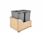 Rev-A-Shelf - 4WCSC-1835DMND-2 - Double 35 Quart Pullout Waste Container