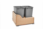 Rev-A-Shelf - 4WCSC-2135DM-2 - Double 35 Quart Pullout Waste Container
