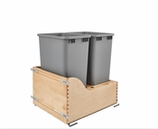 Rev-A-Shelf - 4WCSC-2150DM-2 - Dbl 50 QT Bottom Mount Waste Container