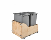 Rev-A-Shelf - 4WCSD-1835DM-2 - Servo Dbl 35 QT Pullout Waste Container