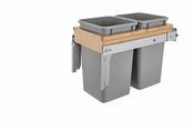 Rev-A-Shelf - 4WCTM-15BBSCDM2 - Dbl 27 QT Top Mount Waste Container