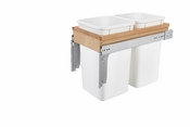 Rev-A-Shelf - 4WCTM-15DM2-162 - Dbl 27 QT Top Mount Waste Container