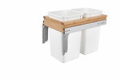 Rev-A-Shelf - 4WCTM-15DM2-343-FL - Dbl 27 QT Top Mount Waste Container