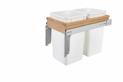 Rev-A-Shelf - 4WCTM-15DM2 - Dbl 27 QT Top Mount Waste Container