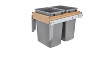 Rev-A-Shelf - 4WCTM-18BBSCDM2 - Dbl 35 QT Top Mount Waste Container