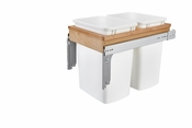 Rev-A-Shelf - 4WCTM-18DM2-175 - Dbl 35 QT Top Mount Waste Container