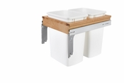 Rev-A-Shelf - 4WCTM-18DM2-419-FL - Dbl 50 QT Top Mount Waste Container