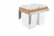 Rev-A-Shelf - 4WCTM-18DM2 - Dbl 35 QT Top Mount Waste Container