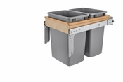 Rev-A-Shelf - 4WCTM-18INDM-2 - Dbl 50 QT Top Mount Waste Container