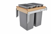 Rev-A-Shelf - 4WCTM-2150BBSCDM-2 - Dbl 50 QT Top Mount Waste Container