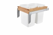 Rev-A-Shelf - 4WCTM-21DM2-162 - Dbl 35 QT Top Mount Waste Container