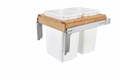 Rev-A-Shelf - 4WCTM-21DM2-495-FL - Dbl 35 QT Top Mount Waste Container