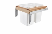 Rev-A-Shelf - 4WCTM-24DM2-162 - Dbl 35 QT Top Mount Waste Container