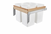 Rev-A-Shelf - 4WCTM-27-4 - Four 27 Quart Top Mount Waste Containers