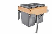 Rev-A-Shelf - 4WCTM-RM-2135DM-2 - Dbl 35 QT Top Mount Waste Container