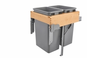 Rev-A-Shelf - 4WCTM-RM-2150DM-2 - Dbl 50 QT Top Mount Waste Container