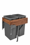 Rev-A-Shelf - 4WCTM-WNRM-2150DM-2 - Double 50 Quart Top Mount Waste Container