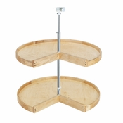 "Rev-A-Shelf - 4WLS942-24-52 - 24"" Wood Pie-Cut Lazy Susan 2-Shelf Set"