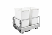 Rev-A-Shelf - 5149-18DM-211 - Double 35 Quart Pullout Waste Container