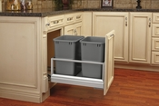 Rev-A-Shelf - 5149-18DM-217 - Double 35 Quart Pullout Waste Container