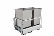 Rev-A-Shelf - 5149-18DM-2SS - Double 32 Quart Pullout Waste Container