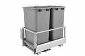 Rev-A-Shelf - 5149-2150DM-217 - Double 50 Quart Pullout Waste Container