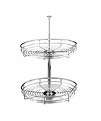 "Rev-A-Shelf - 5272-20-CR - 20"" Chrome D-Shape Lazy Susan 2-Shelf"