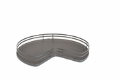 "Rev-A-Shelf - 53-401-32BSFOG-1 - 32"" Kidney Shape Solid Bottom Shelf w/ Steel Bearing Corner Lazy Susan"