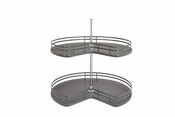 "Rev-A-Shelf - 53472-32FOG-1 - 32"" Kidney Shape Lazy Susan 2 Shelf Set"