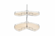 "Rev-A-Shelf - 53472-32MP-1 - 32"" Kidney Shape Lazy Susan 2 Shelf Set"