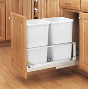Rev-A-Shelf - 5349-1527DM-2 - Double 27 Quart Pullout Waste Containers