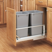 Rev-A-Shelf - 5349-1527DM-217 - Double 27 Quart Pullout Waste Containers