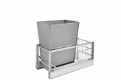 "Rev-A-Shelf - 5349-15DM-1SS - 35 Quart Pullout Waste Container (18"" D)"