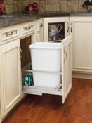 "Rev-A-Shelf - 5349-15DM18-1 - 35 QT Pullout Waste Container, 18""D"