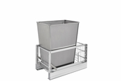 "Rev-A-Shelf - 5349-15DM18-1SS - 35 Quart Pullout Waste Container (18"" D)"
