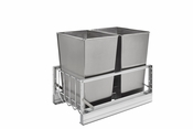 Rev-A-Shelf - 5349-18DM-2SS - Double 32 Quart Pullout Waste Containers