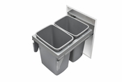Rev-A-Shelf - 53TM-1835GSCDM2-FL - Double 35 Quart Steel Top Mount Waste Container