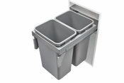 Rev-A-Shelf - 53TM-1850GSCDM2-FL - Double 50 Quart Steel Top Mount Waste Container