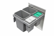 Rev-A-Shelf - 53TM-24GSCDM4-FL - Double 35/8 Quart Steel Top Mount Waste Container