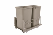 Rev-A-Shelf - 53WC-1527SCDM-212 - Dbl 27 QT Pull-Out Waste Container Soft-Close