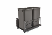 Rev-A-Shelf - 53WC-1527SCDM-213 - Dbl 27 QT Pull-Out Waste Container Soft-Close