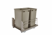 Rev-A-Shelf - 53WC-1835SCDM-212 - Dbl 35 QT Pull-out Waste Container Soft-Close